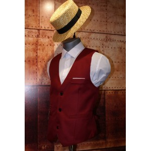 Gilet de costume bordeaux