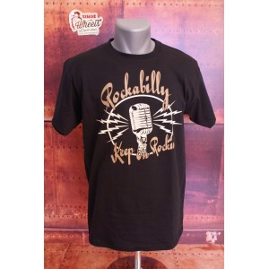 Tee shirt Rockabilly Keep on Rockin'