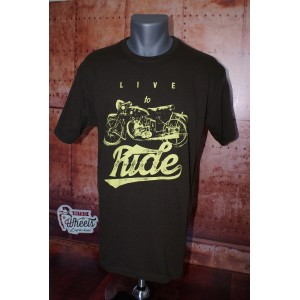 Tee shirt Live to Ride
