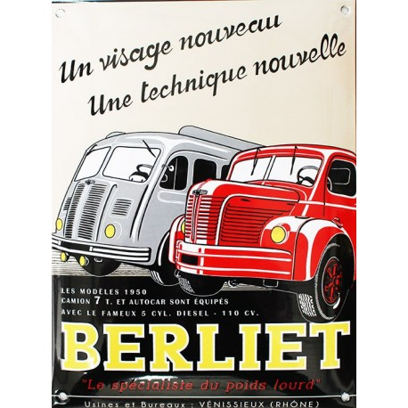plaque maill e d co camions berliet retro wheels. Black Bedroom Furniture Sets. Home Design Ideas